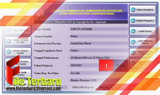 Download Aplikasi Administrasi Ujian Format Excel 2017