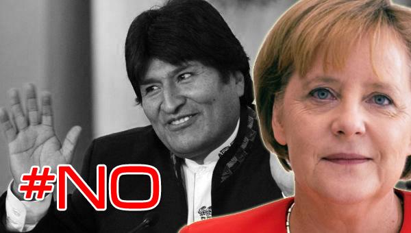 Evo Morales y Ángela Merkel