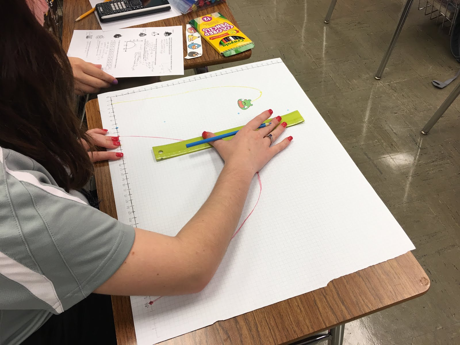 Teaching High School Math Angry Birds Parabola Project