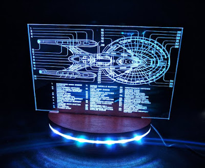 Star Ship Schematic Desk Lamp