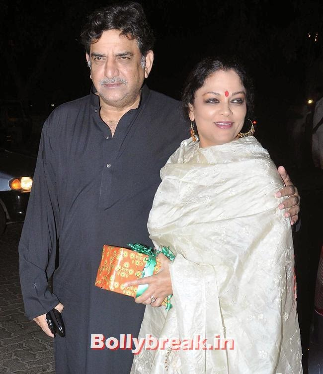 Baba and Tanvi Azmi, Bollywood Celebs at Kangana Ranaut Birthday Bash Pics