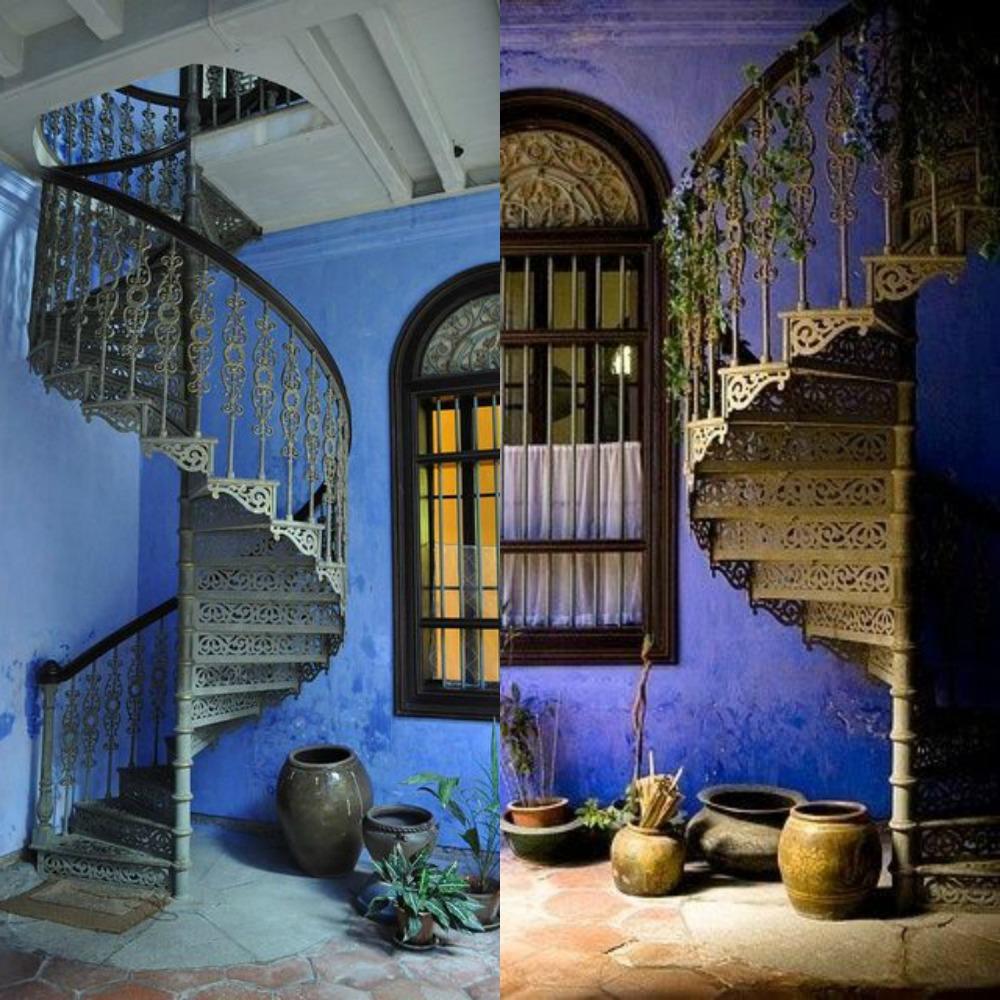 Mcompany style c mo decorar con escaleras de caracol for Escalera caracol 2 pisos