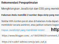 [BLOG ORANG IT] Cara mengatasi render blocking dipagespeedinsights