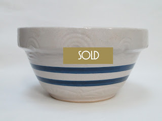 Stoneware Bowl Cobalt Stripes by Robinson-Ransbottom