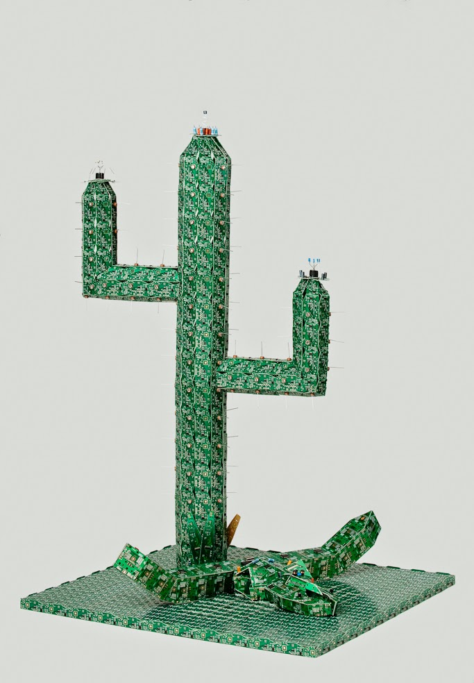 23-Cactus-Steven-Rodrig-Upcycle-PCB-Sculptures-from-used-Electronics-www-designstack-co