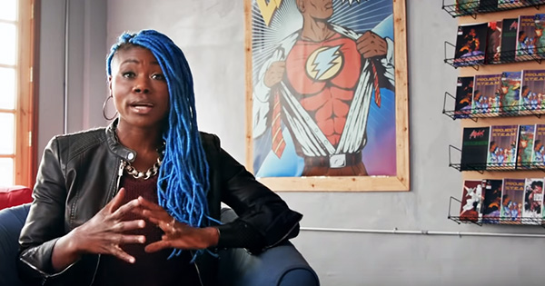 Ariell Johnson, founder of Amalgam Comic & Coffee Shop