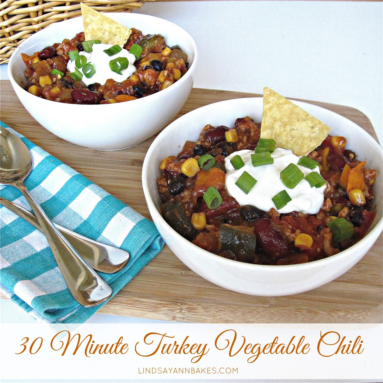 Quick And Easy Turkey Vegetable Chili The Lindsay Ann