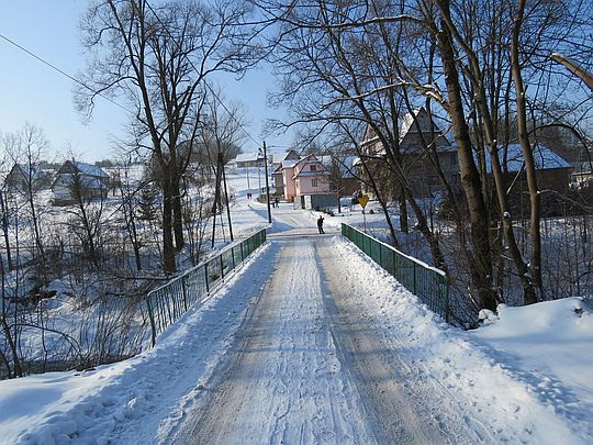Most nad potokiem Olszówka.