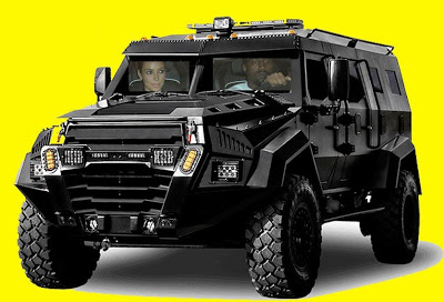 Kim K will now be traveling in armoured cars & her bodyguards will be armed with machine guns