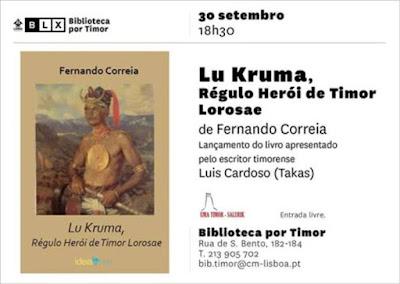 LU KRUMA, RÉGULO E HERÓI DE TIMOR LOROSAE CHEGA AMANHÃ A LISBOA