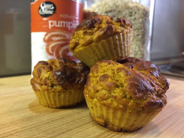 Pumpkin Protein Oat Muffins