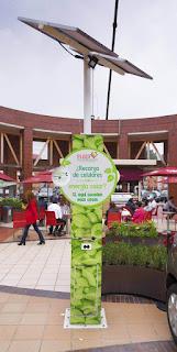 Recarga Celular Energia Solar Plaza de las Americas
