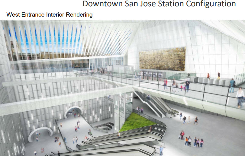 The San Jose Blog: Downtown San Jose BART Station renders