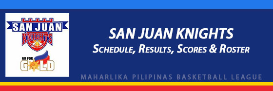 MPBL: San Juan Knights Schedule, Results, Scores, Roster