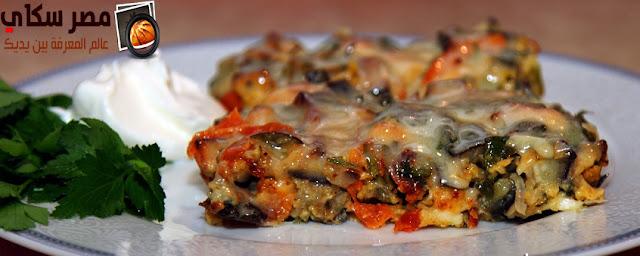 طاجن المكرونة باللحمة المفرومة بالطريقة السورية Macaroni