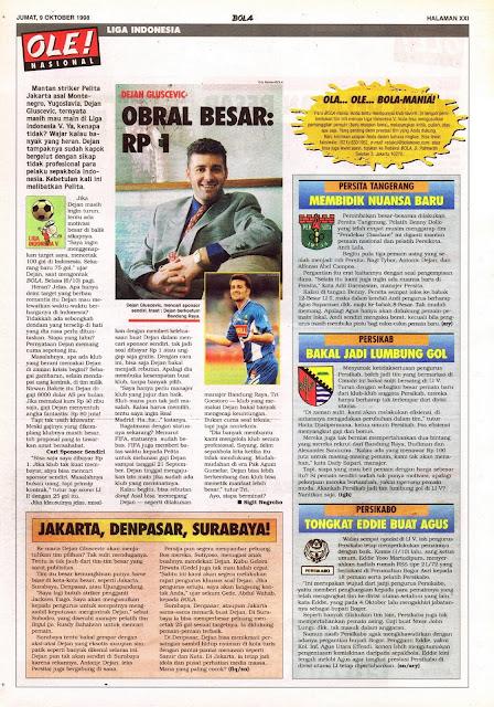 LIGA INDONESIA: DEJAN GLUSEVIC OBRAL BESAR