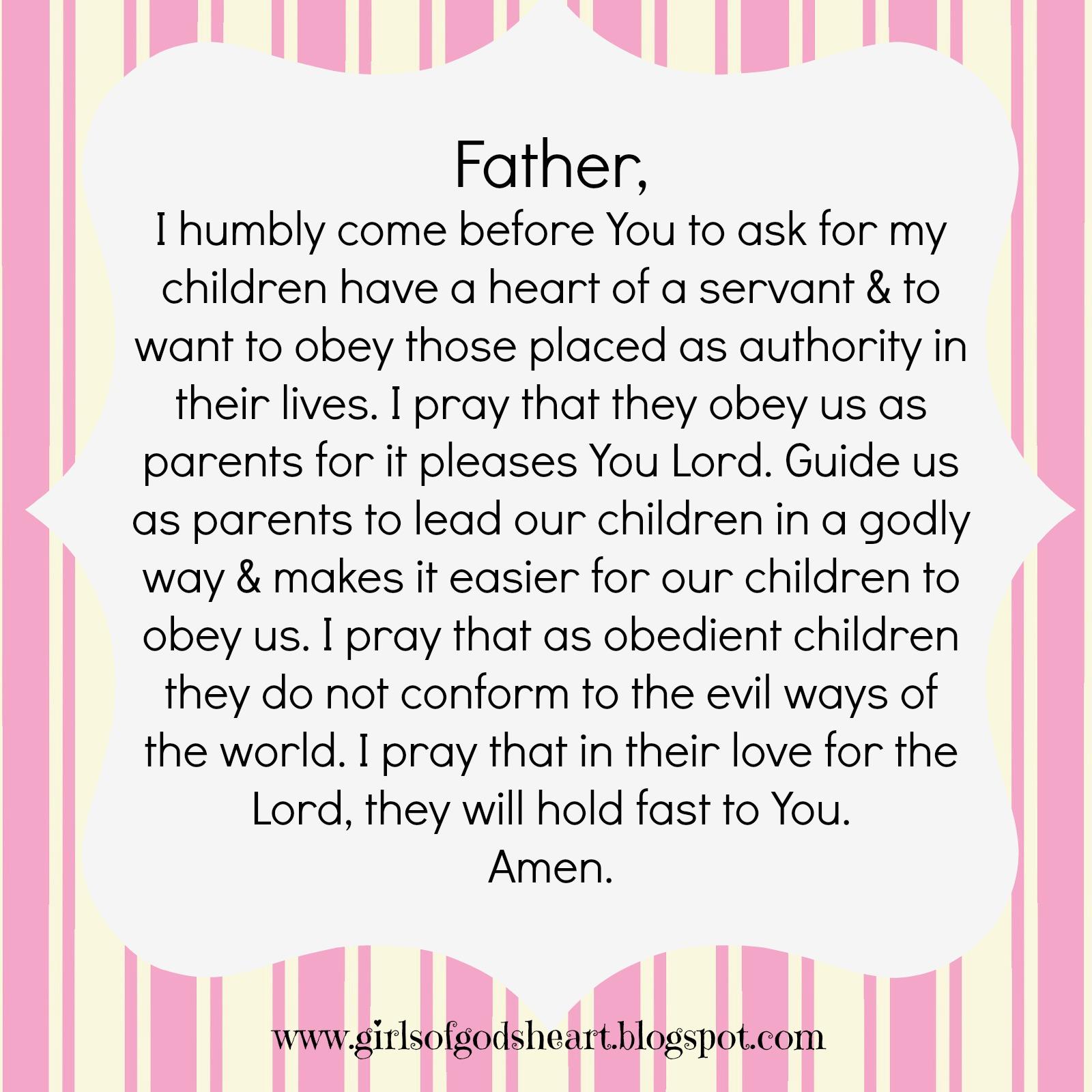 Girls Of God S Heart Mothers Prayer Obe Nce