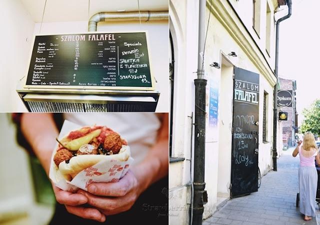 Izraelskie jedzenie w Krakowie - falafel i hummus w Szalom Falafel