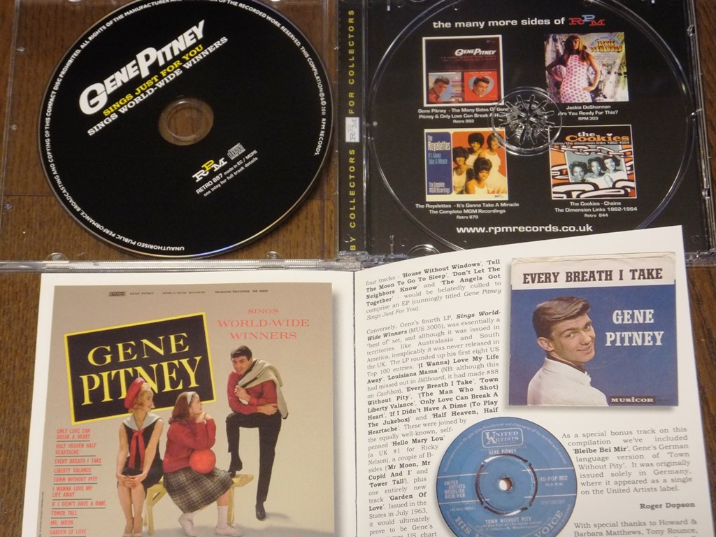 Cd Gene Pitney Sings Just For You World Wide