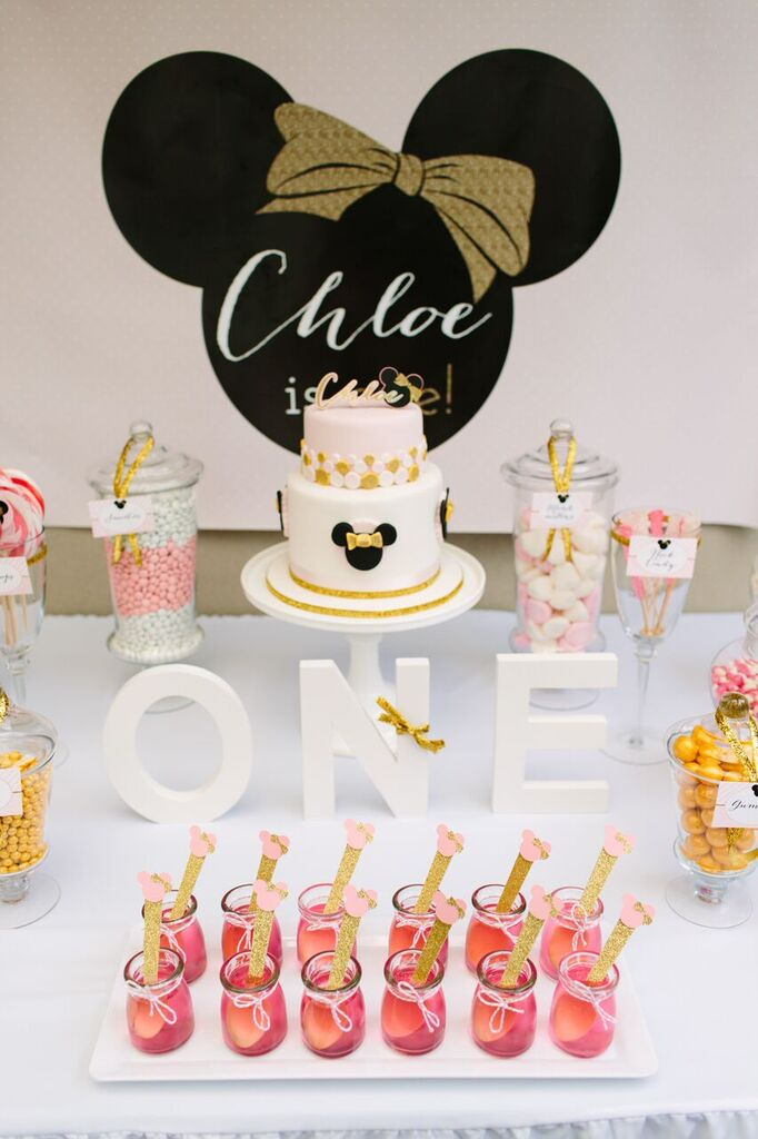 Part 1 Miss Cs Pink And Gold Minnie Mouse 1st Birthday Party