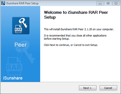install and run isunshare rar peer in lan