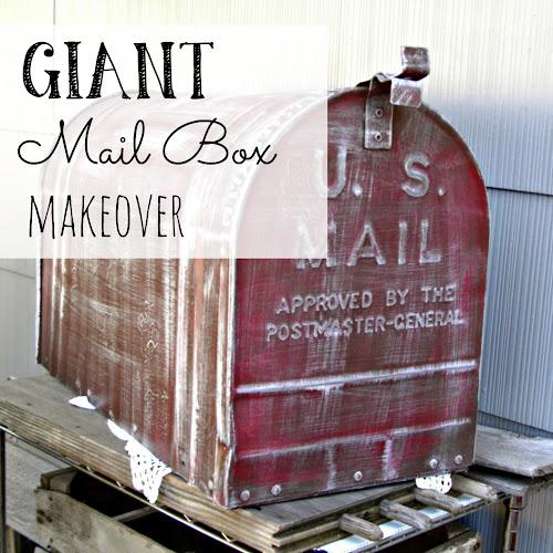 Giant Mailbox Makeover