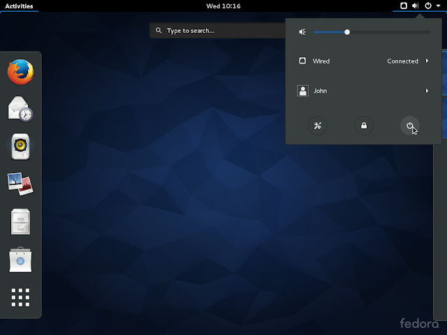 Fedora 25 Beta rodando o GNOME 3.22