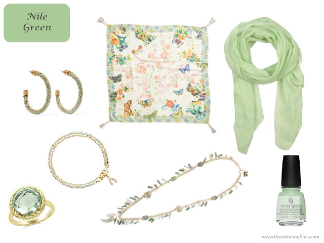 Nile Green accessories from Pantone Spring 2018 colors