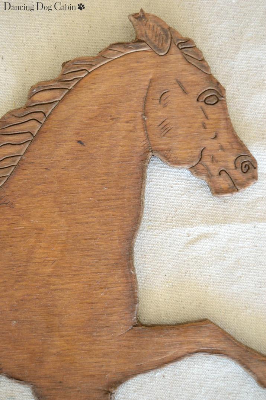 Dancing Dog Cabin How To Create Wood Horse Wall Art