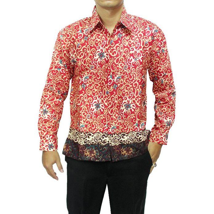 Batik Motif Bunga Pria: 32 Model Kemeja Batik Pria 2018 Desain Modern Banyak Di