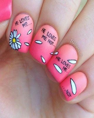nail desings pink