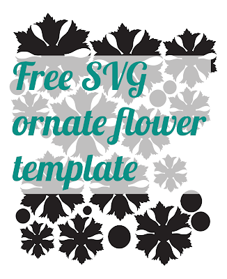 Free ornate flower shape .SVG - from mel stampz