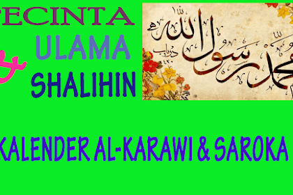 Kalender Al-Karawi dan Darut Thayyibin Saroka