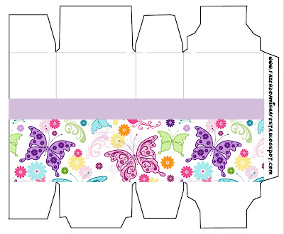 Fundo De Borboletas Coloridas Kit Completo Com Molduras