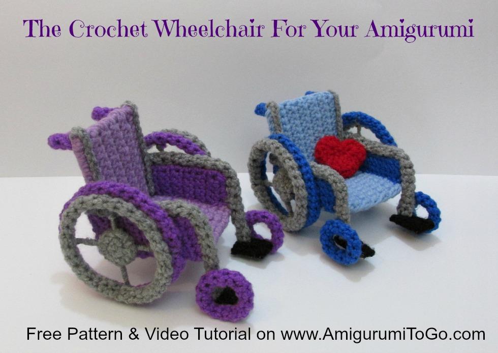 Amigurumi To Go Coraline : Crochet wheelchair pattern video tutorial amigurumi to go