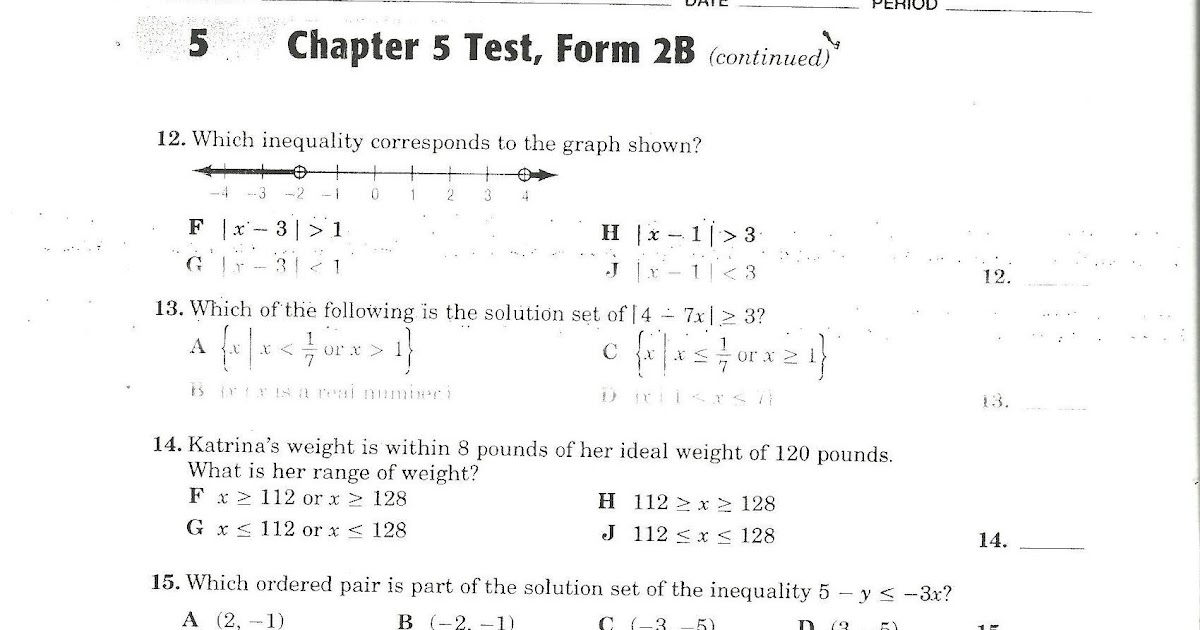 82 CHAPTER 4 TEST FORM 2B