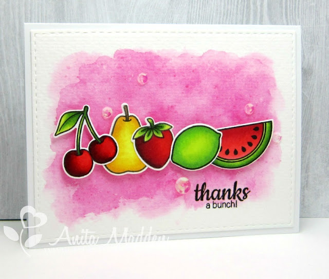 Sunny Studio Stamps: Summer Fresh & Fruity Card by Anita Madden.