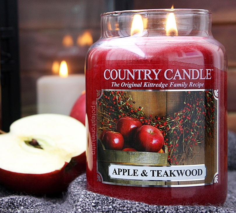 country candle apple & teakwood świeca zapachowa