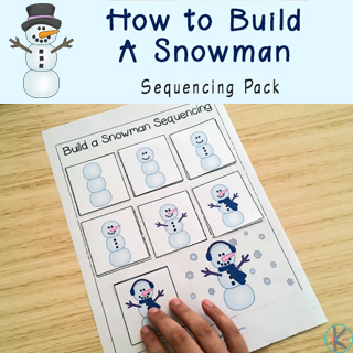 Build a Snowman Sequencing Worksheets