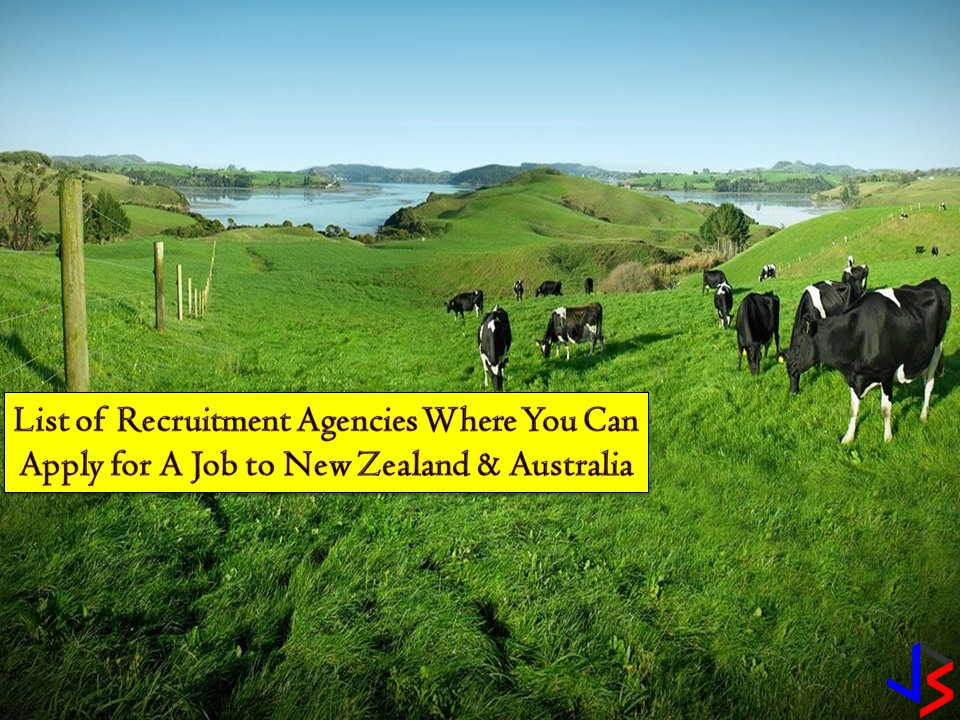 Australia and New Zealand are two countries offering good opportunities for Filipinos who want to work abroad. Big salary, good working conditions, health and work insurance are only a few of privileges OFW may get while working in these countries. So if you are looking for a recruitment agency where you can apply for a work, check out the following. All information is taken from the website of the Philippine Overseas Employment Administration (POEA)!
