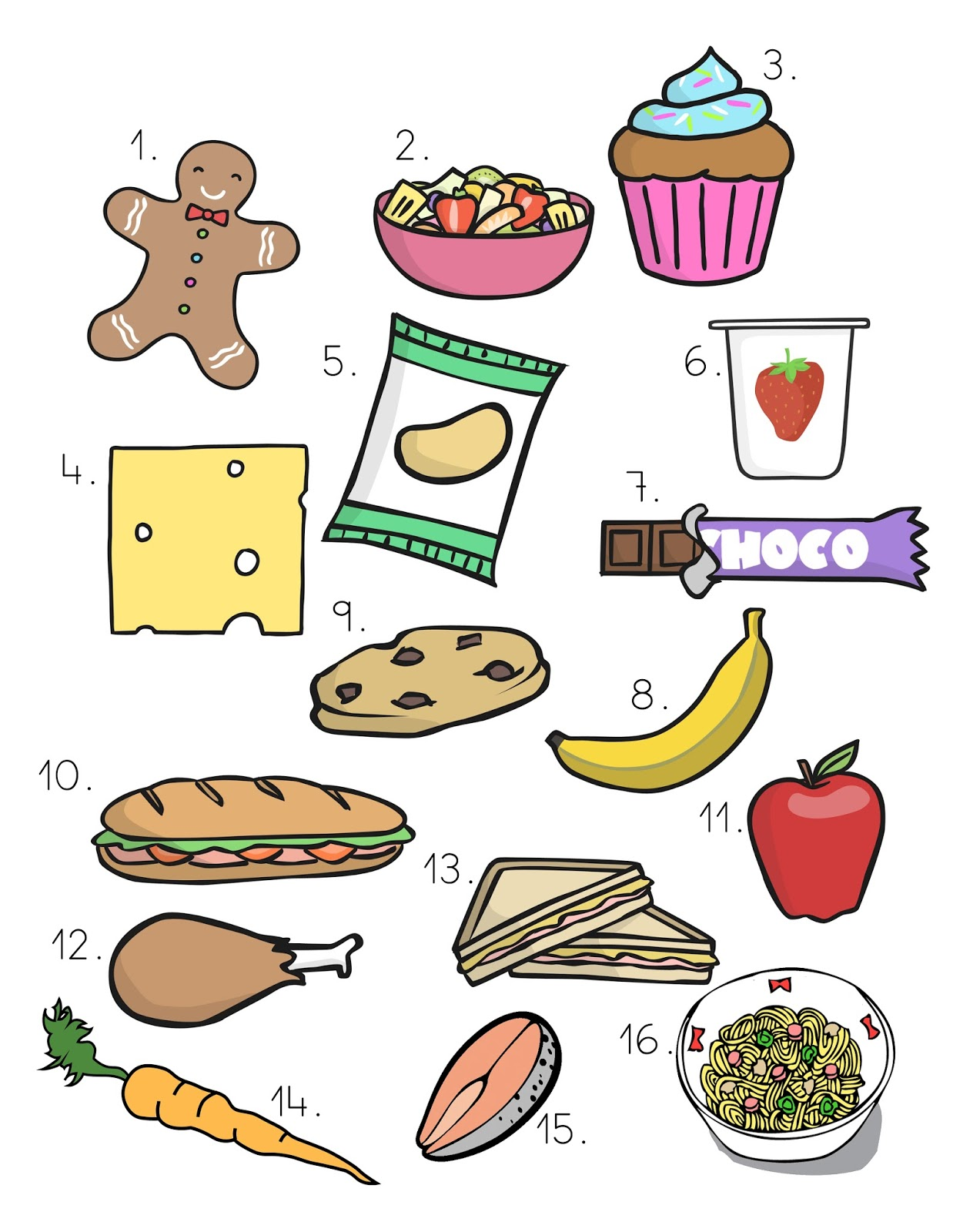 Good Food Vs Bad Food Worksheet