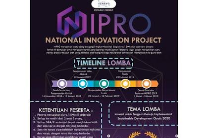 Lomba Inovation Project (NIPRO) 2019 SMA Sederajat