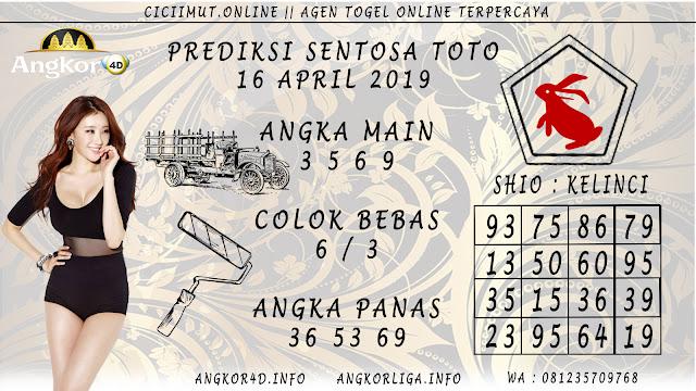 Prediksi Angka Jitu SENTOSA TOTO 16 APRIL 2019