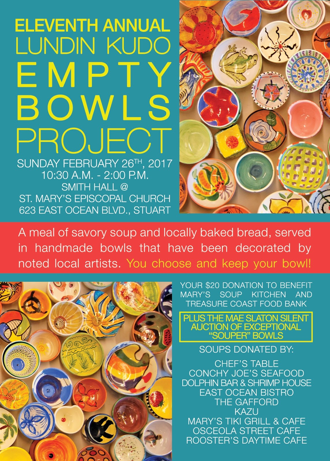 Empty Bowls Project @ Martin County, Fl