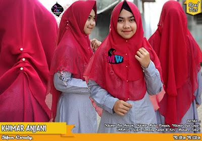 Khimar Sifon Ceruty Model Pinguin Dua layer Variasi Mutiara tabur
