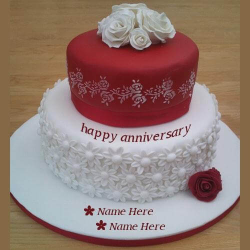 Happy Wedding Anniversary Wishes Birthday Wishes Cakes With Name