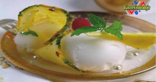 Sorbete de Sidra con Piña         ↔         Kanelamonje:  Recetas de Cocina