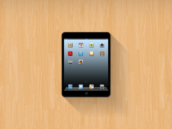 Free PSD iPad Mini Mockup