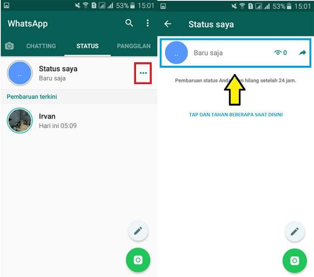 Cara Menghapus Status Whatsapp Tanpa Menunggu 24 Jam