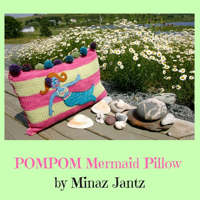 POMPOM Mermaid Pillow by Minaz Jantz